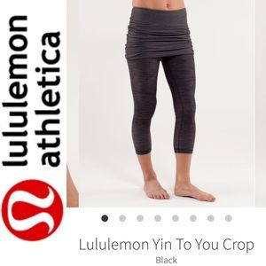 Lululemon Yin to You Crop Black Size 4